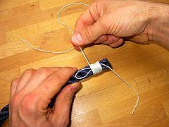 Segelmacher-Takling, 1. Schritt